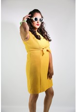 1960's Plus Size Mustard Yellow Dress