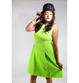 1960's Plus Size Lime Green Shift Dress