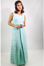 1960's Blue Lace Bridesmaid Dress