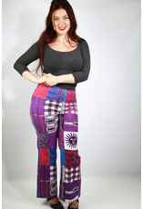 1960's Purple Patchwork Bell Bottoms