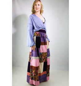 1960's Purple Patchwork Maxi Skirt