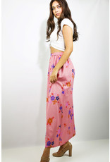 1960's Pink & Purple Floral Maxi Skirt