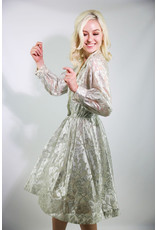 1960's Silver Collared Party Dress