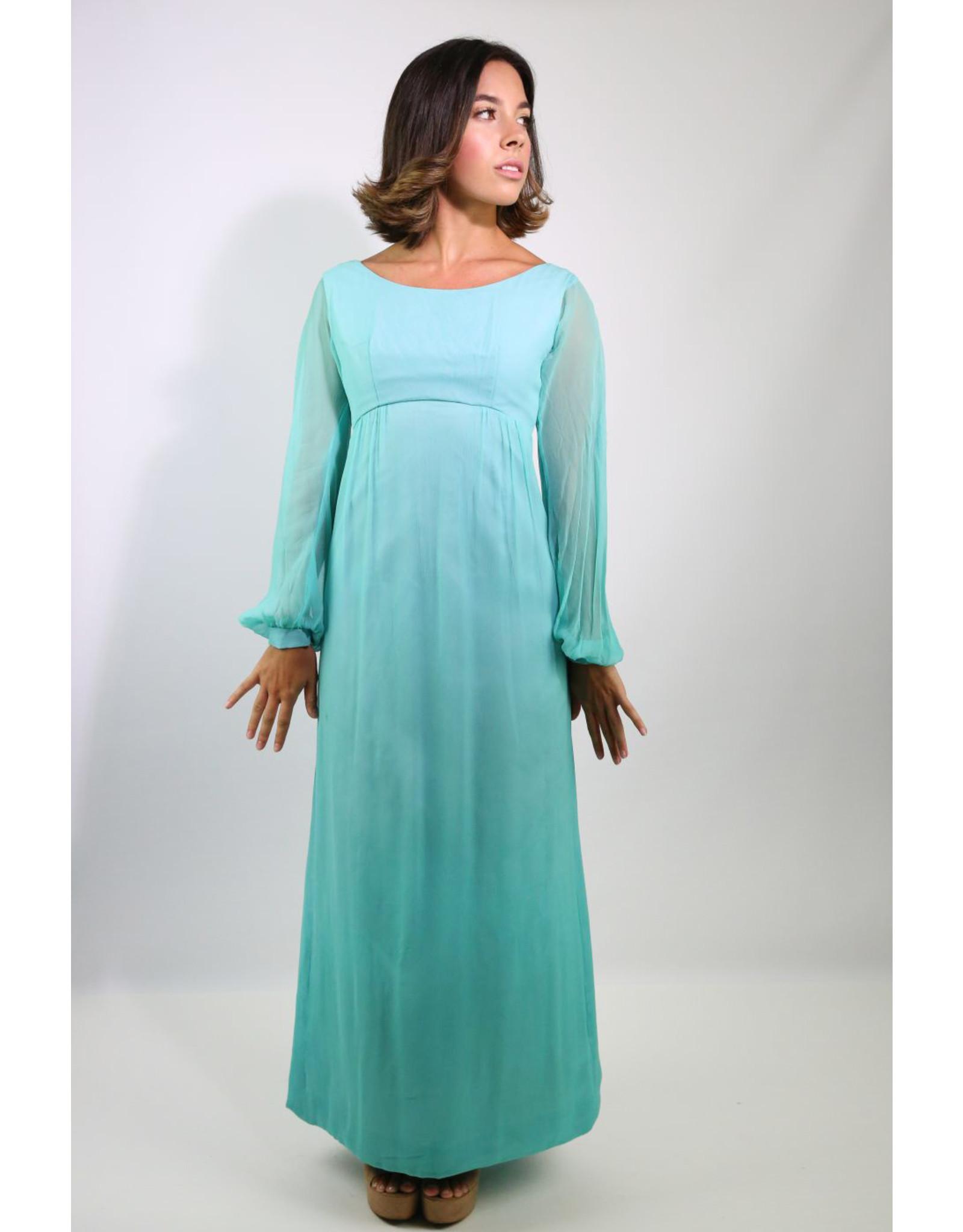 1960's Blue Convertible Bridesmaid Dress