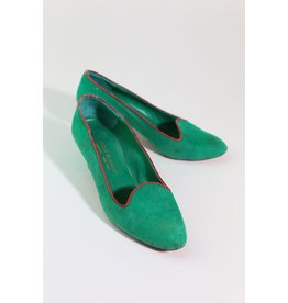 1960's Emerald Manolo Blahnik pumps 6.5