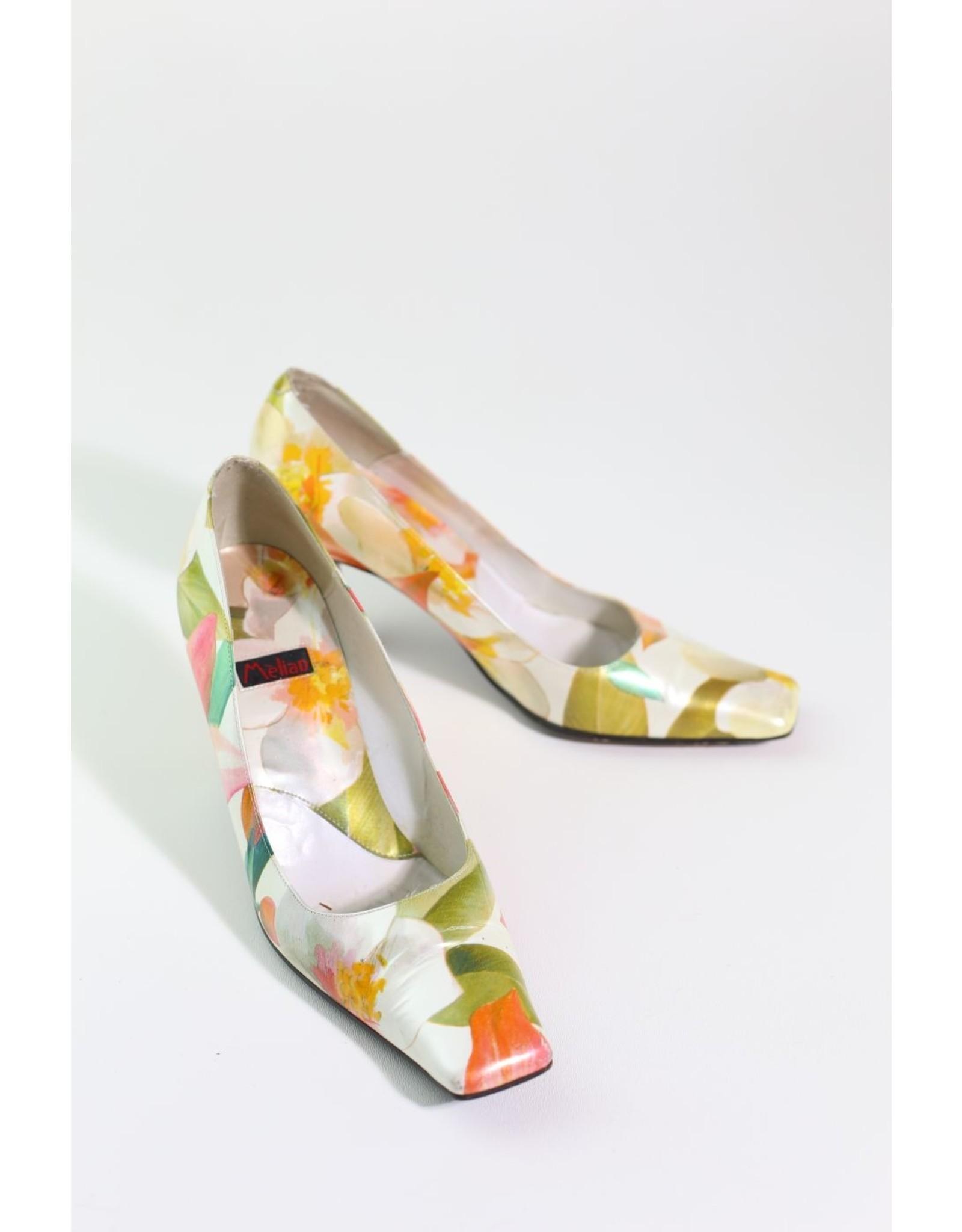 1960's Floral Heels 8.5