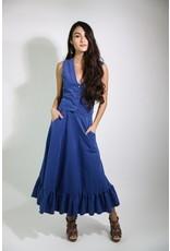 1970's Blue Vest & Skirt Set