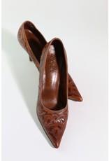 1980's Saddle Brown Western Style Heels