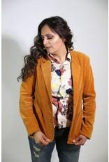 1970's Plus Size Gold Velvet Blazer