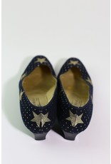 1980's Bruno Magli Navy Star Block Heels