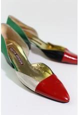 1980's Colorblock Walter Steiger heels