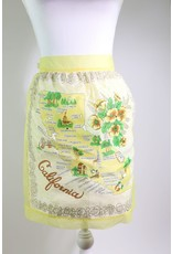 1960's California Map Apron