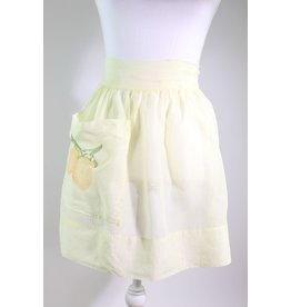 1960's Butter Yellow Citrus Apron