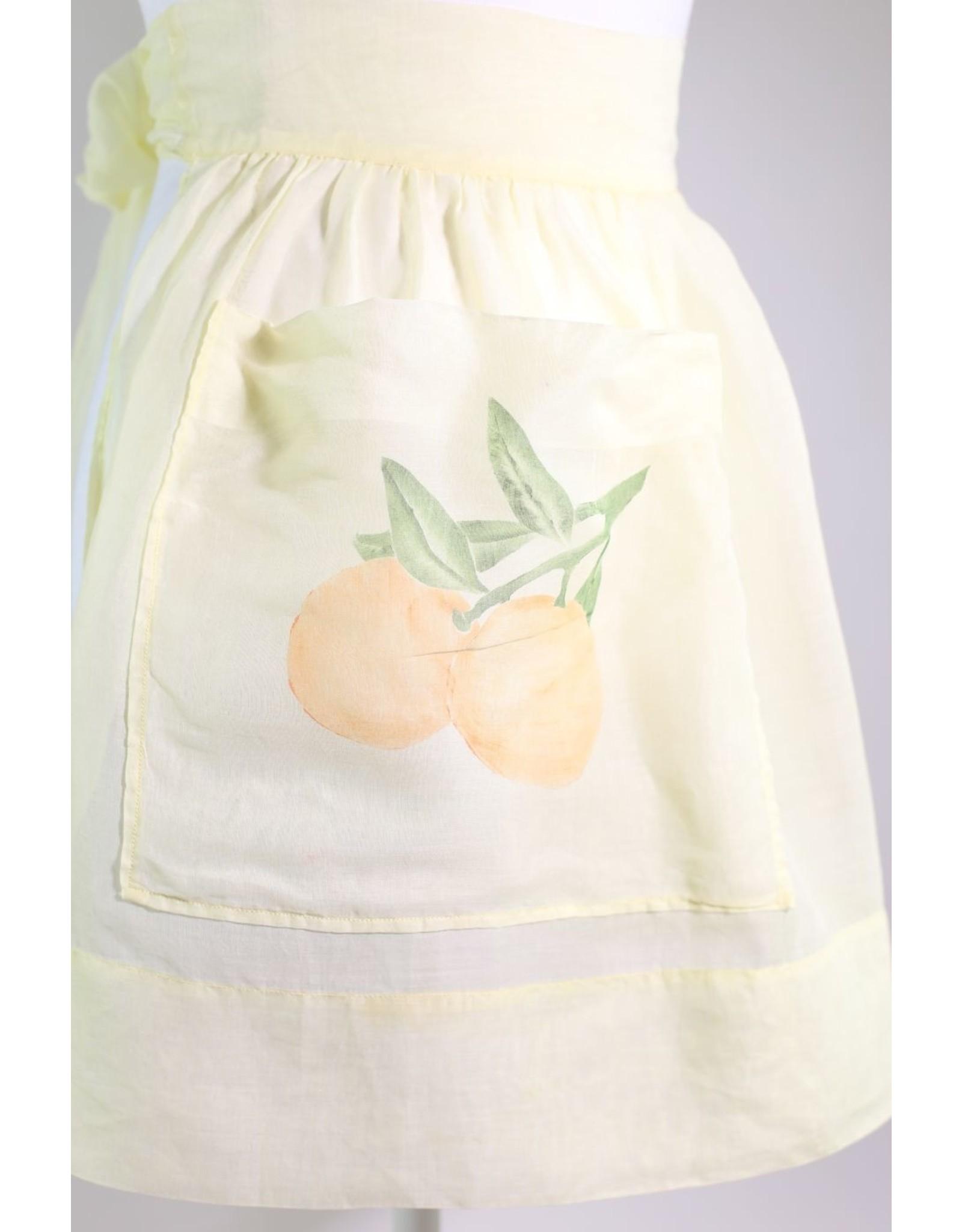 1960's Butter Yellow Citrus Apron