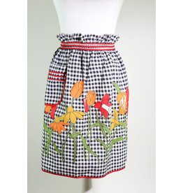 1960's Black & White Gingham Apron