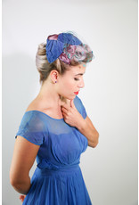 1950's Blue and Purple Crescent Hat