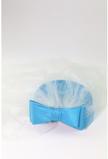 1950's Small Teal Pill Box Hat