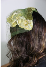 1960's Yellow and White Flowered Cage Hat