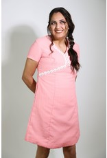 1960's Plus Size Pink Baby Doll Dress