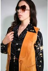 1970's Larry Mahan Tan Leather Vest