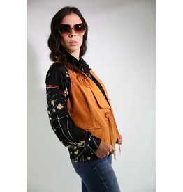 1970's Larry Mahan Tan Leather Vest