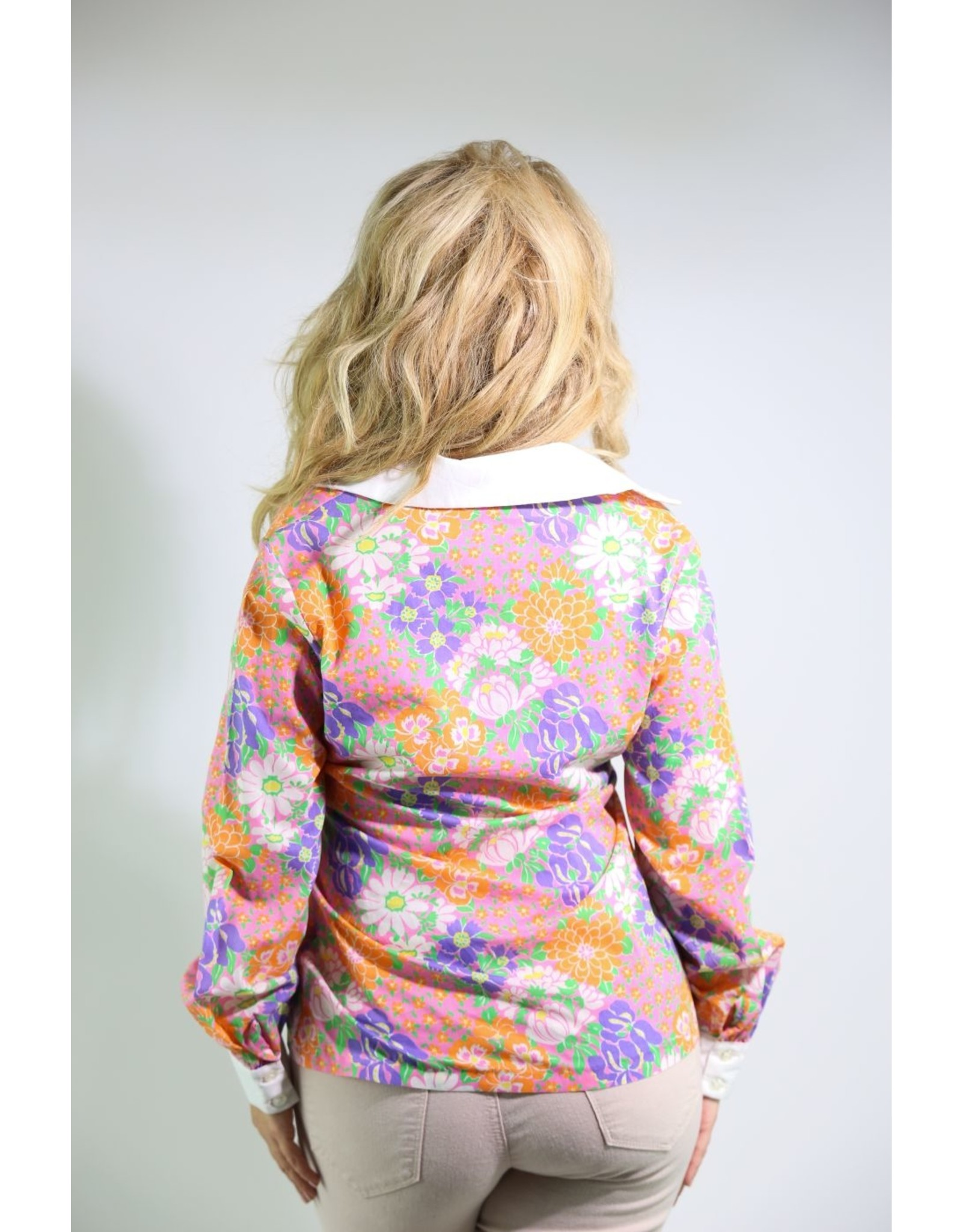 1970's Flower Power Blouse