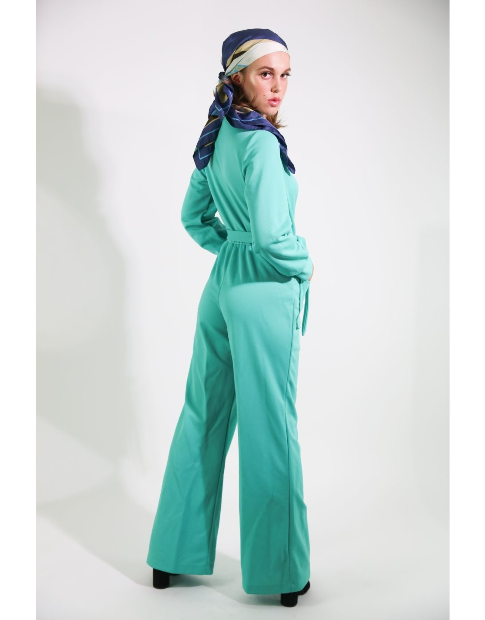 1970's Green Mechanic-Style Jumpsuit