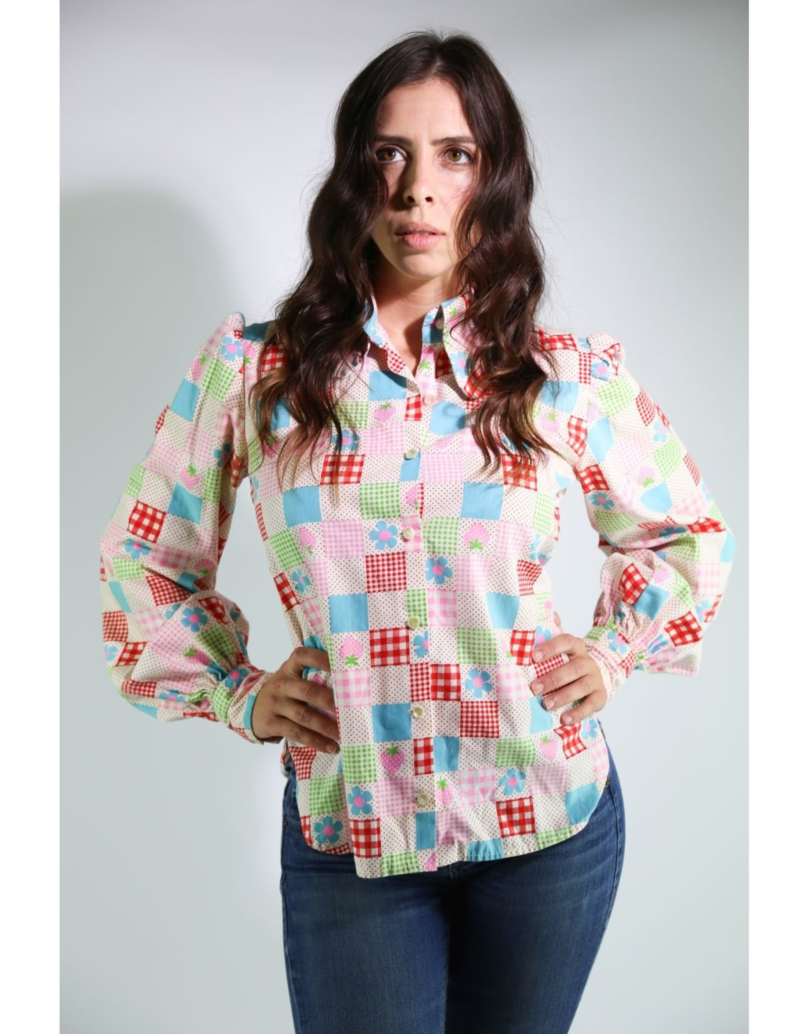 1970's Patchwork Strawberry Top