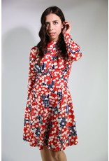 1970's Red, White & Blue Fit & Flare Dress
