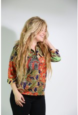 1970's Long Sleeved Paisley Top