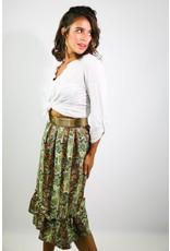 1970's Paisley Ruffle Midi Skirt