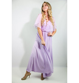 1970's Lavender Maxi Dress