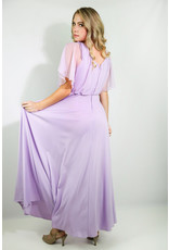 1970's Lavendar Maxi Dress