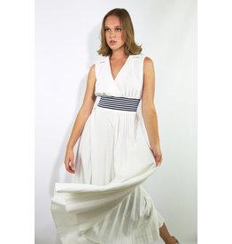 1970's White & Blue Athleisure Maxi Tennis Dress