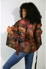 1970's Brown Patchwork Leather Jacket