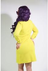 1960's Astronaut-Inspired Yellow Midi Dress
