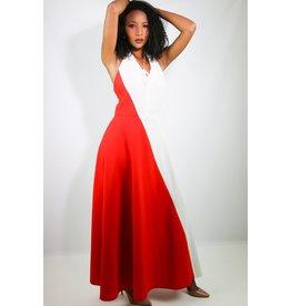 1970's Red & White Disco Dress