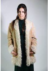 1970's Leather Shearling Afghan Coat