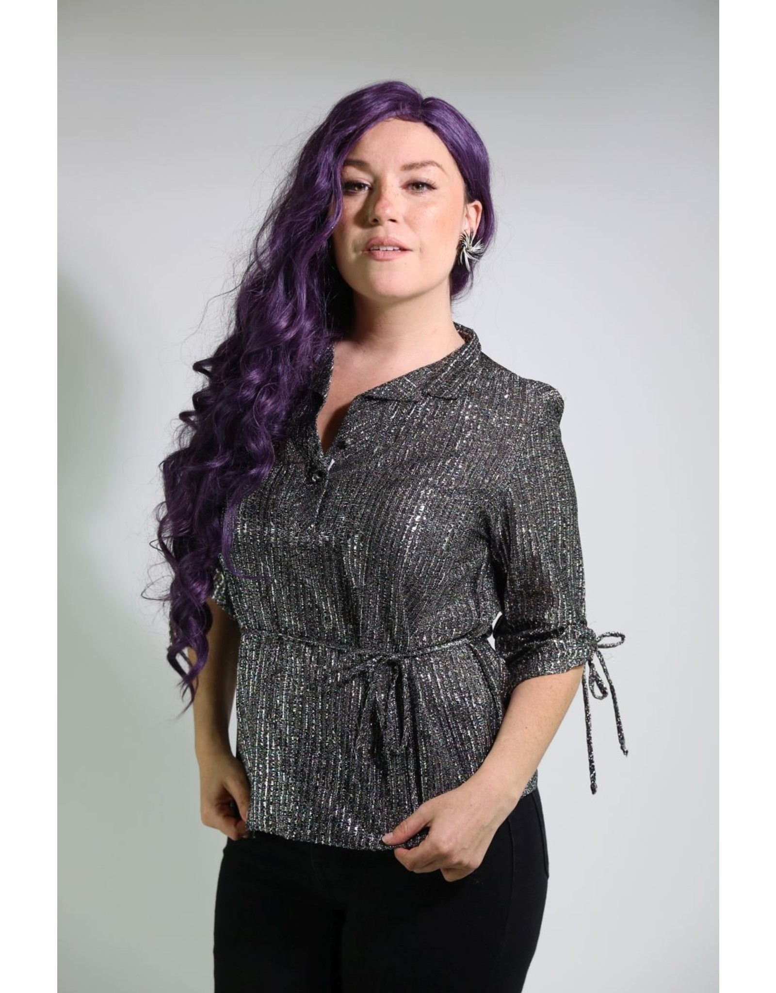 1980's Silver Party Top