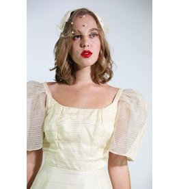 1950's Ivory Bow Bridal Headpiece
