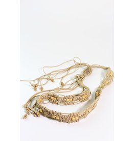 1970's Tan Knotted Boho Belt