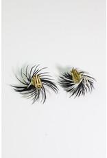 1960's Black & White Starburst Earrings