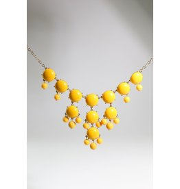 1960's Mustard Yellow Dangle Necklace