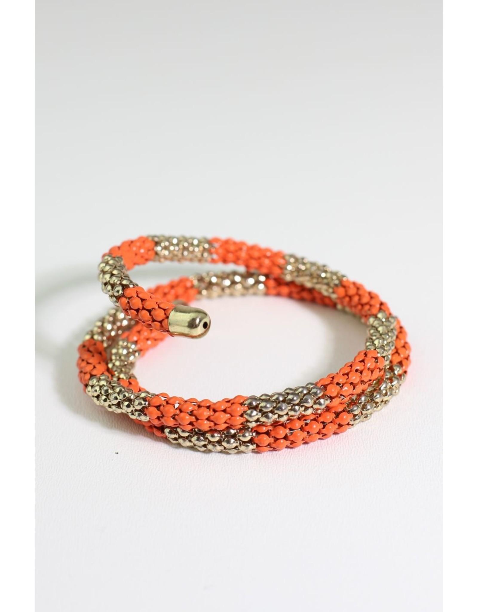 1970's Orange & Silver Bicep Bracelet