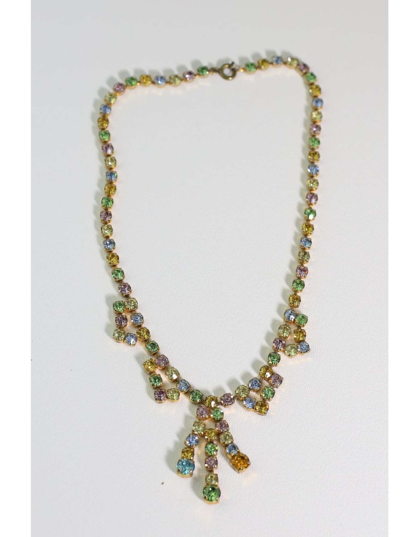 1950's Multi-Color Rhinestone Necklace