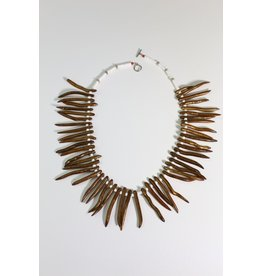 1970's Wood Tribal Necklace