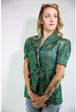 1980's Green Oriental Fitted Jacket