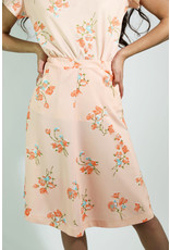 1970's Peach Floral Skirt Set