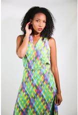1980's David Warren Rainbow Dress