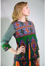 1970's Green & Orange Indian Skirt Set